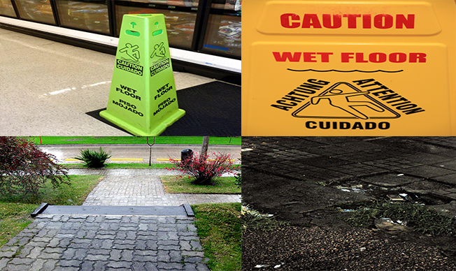On Wet Floors The Safest Way To Walk Is Corners Home Plan